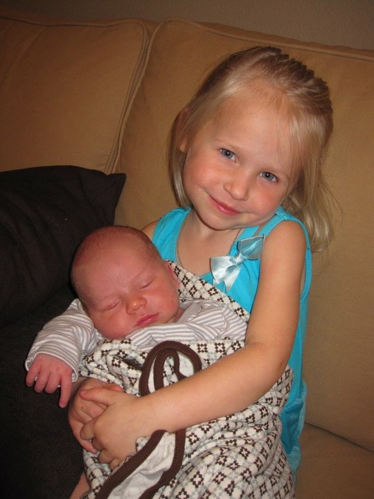My warrior baby with her baby brother!
